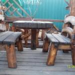 Стол и скамьи
