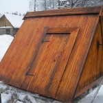 Декоративная отделка колодезного домика
