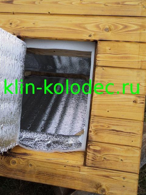 Утепленный домик для колодца
